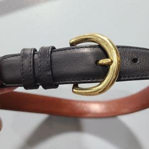 Coach Black Leather and Gold Belt SJ84